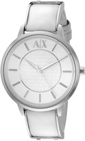 Armani Exchange A|X Women's AX5300 Analog Display Analog Quartz White Watch