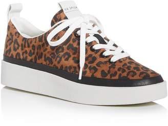 Via Spiga Women's V-Mae Leopard-Print Platform Sneakers