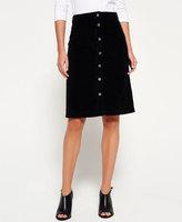 Superdry A-Line Midi Cord Skirt