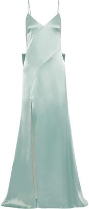 ZAC Zac Posen Eileen Bow-embellished Duchesse-satin Gown
