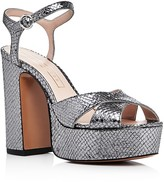 Marc Jacobs Lust Metallic Snake Embossed Platform Sandals
