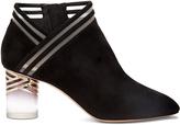 Nicholas Kirkwood Zaha Perspex-heel suede ankle boots