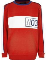 River Island Boys red sporty sweatshirt
