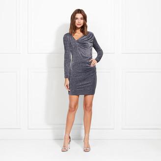 Rachel Zoe Mallory Metallic Eclat Jersey Mini Dress