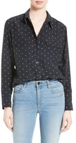 Equipment Women's Signature Star Print Silk Shirt