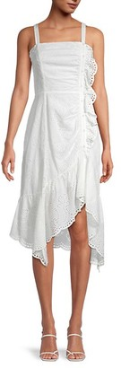 Parker Eyelet Asymmetrical Cotton Dress