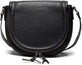 Sole Society Thalia vegan leather saddlebag with braided tassels