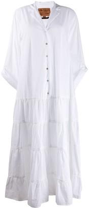 Alessia Santi Long Tiered Shirt Dress