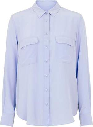 Second Female - In Balloon Blue Abela Silk Shirt - XL - Blue