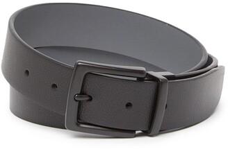 Original Penguin Gunmetal Matte Leather Belt