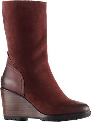 Sorel After Hours Mid Waterproof Suede Wedge Boot