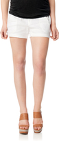 A Pea in the Pod Pull On Style Cuffed Maternity Shorts