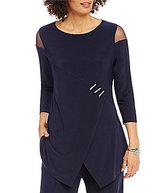 IC Collection Mesh Inset 3/4 Sleeve Tunic