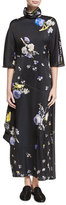 Acne Studios Dilona Floral-Print Maxi Dress