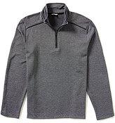 Calvin Klein Jacquard Quarter-Zip Mock Neck Pullover