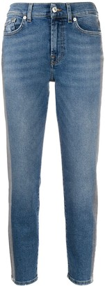 7 For All Mankind denim cropped mid rise jeans