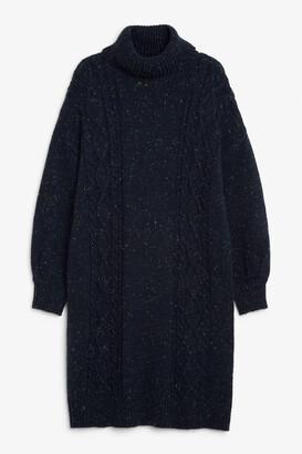 Monki Long cable knit dress