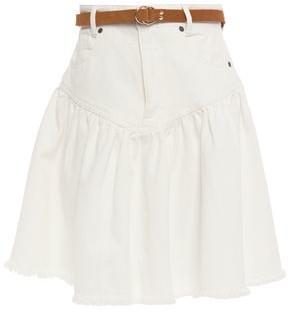 Zimmermann Veneto Gathered Denim Mini Skirt