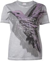 RED Valentino hummingbird print T-shirt - women - Cotton - S
