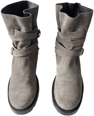 Christian Dior Grey Suede Boots