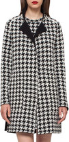 Akris Reversible Houndstooth Cashmere Coat, Black/Moonstone