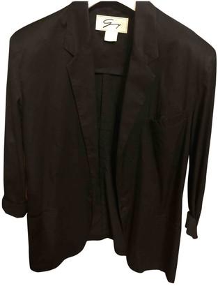 Genny Black Cotton Jacket for Women