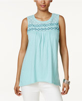 Style&Co. Style & Co Style & Co Petite Embroidered Top, Created for Macy's