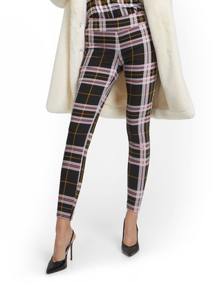 New York & Co. Petite Whitney High-Waisted Pull-On Slim-Leg Pant - Plaid