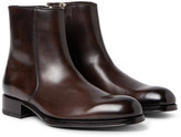 Tom Ford Edgar Burnished-leather Boots