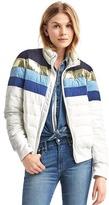 Gap ColdControl Lite stripe puffer jacket