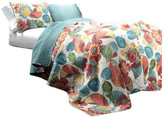 Lush Decor Layla 3-Piece Orange & Blue Quilt Set, Orange/ Blue, Full/Queen, Flora