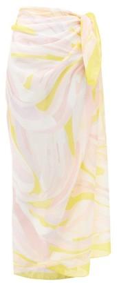 Emilio Pucci Swirl-print Cotton-voile Sarong - Yellow Multi