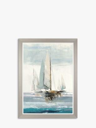 Allison Pearce - Full Sails Framed Canvas Print, 104 x 77cm, Blue/Multi