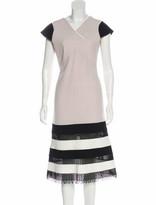 Thumbnail for your product : Roland Mouret Cut-Out Midi Dress black