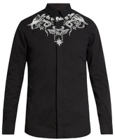 Givenchy Contemporary-fit tattoo-print single-cuff shirt