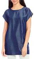 Preston & York Nola Dolman Sleeve Solid Blouse