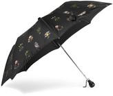 Alexander McQueen Floral-print Shell Umbrella - Black