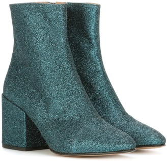 Dries Van Noten Glitter ankle boots