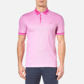 BOSS GREEN Men's Vito Tipped Polo Shirt Open Purple