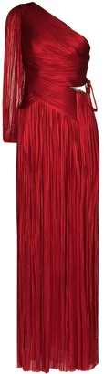 Maria Lucia Hohan Beatrice one-shoulder pleated gown