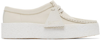 Clarks White Nubuck Wallabe Cup Moccasins