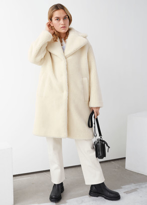 And other stories Faux Shearling Coat
