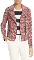 Joie Women's Frona Quilted Floral Silk Jacket
