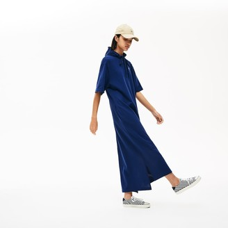 Lacoste Women's Oversized Hooded Organic Cotton Pique Polo Dress