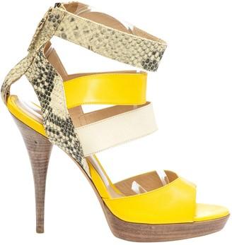 Fendi Yellow Python Sandals