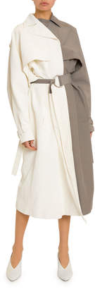 Givenchy Two-Tone Oversized Trench Coat