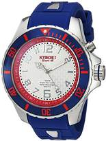 KYBOE! 'Power' Quartz Stainless Steel and Silicone Casual Watch, Color:Blue (Model: KY.48-046.15)