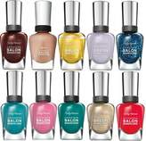 Beauty Brags Lot of 10 Sally Hansen Salon Manicure Finger Nail Polish Color Lacquer Collection