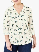 Oasis Curve Bird Print Shirt, Multi