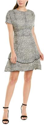 Derek Lam 10 Crosby Floral Silk-Blend A-Line Dress